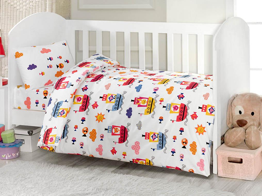 Комплект постельного белья Kidboo ТМ UPS PUPS цвет: стандарт, серия: Пароход, 4 предмета