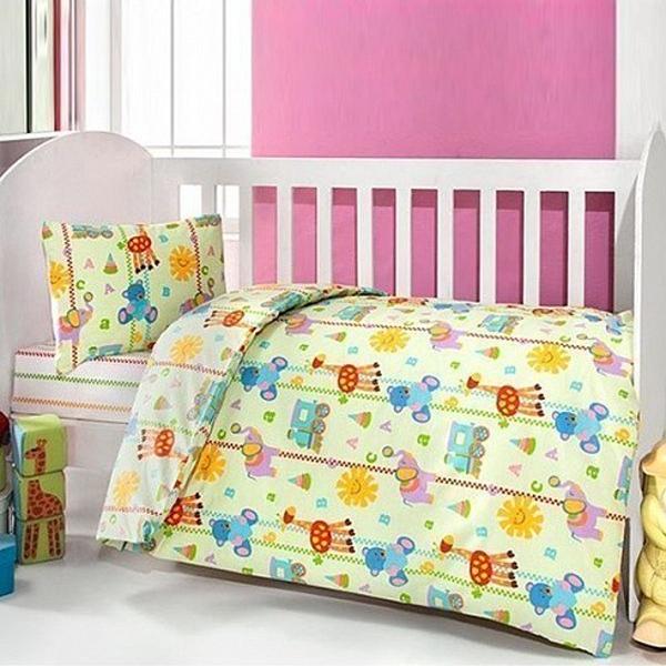 Купить Комплект постельного белья Kidboo ТМ UPS PUPS серия Игрушки, 6 предметов, цвет: салатовый,