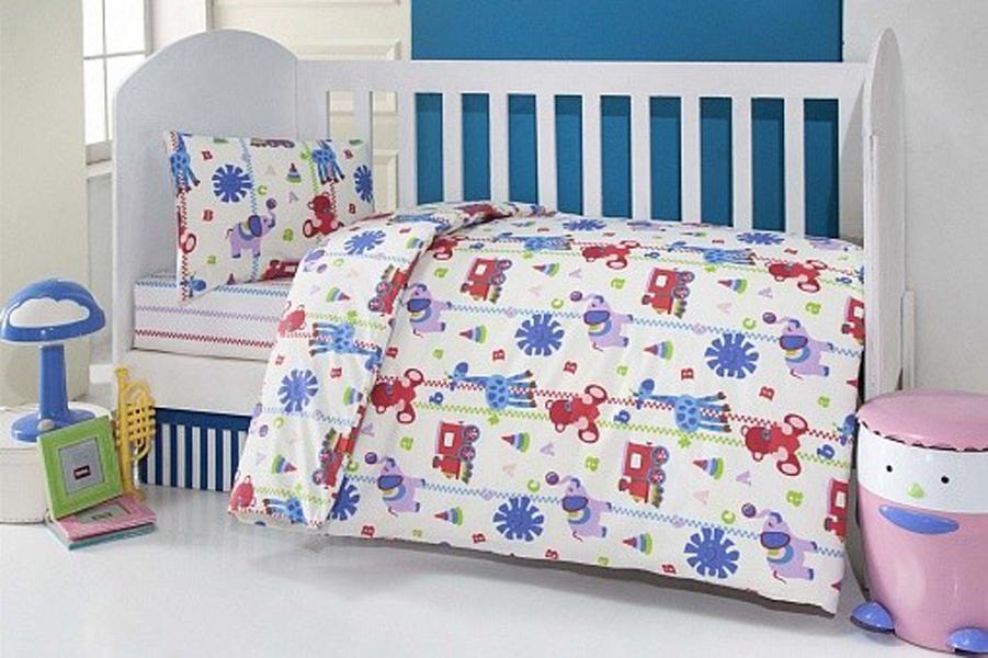 Купить Комплект постельного белья Kidboo ТМ UPS PUPS серия Игрушки, цвет: бежевый, 6 предметов,