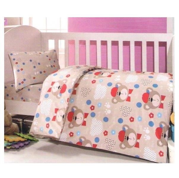 Купить Комплект постельного белья Kidboo ТМ UPS PUPS серия Мишка, цвет: бежевый, 6 предметов,