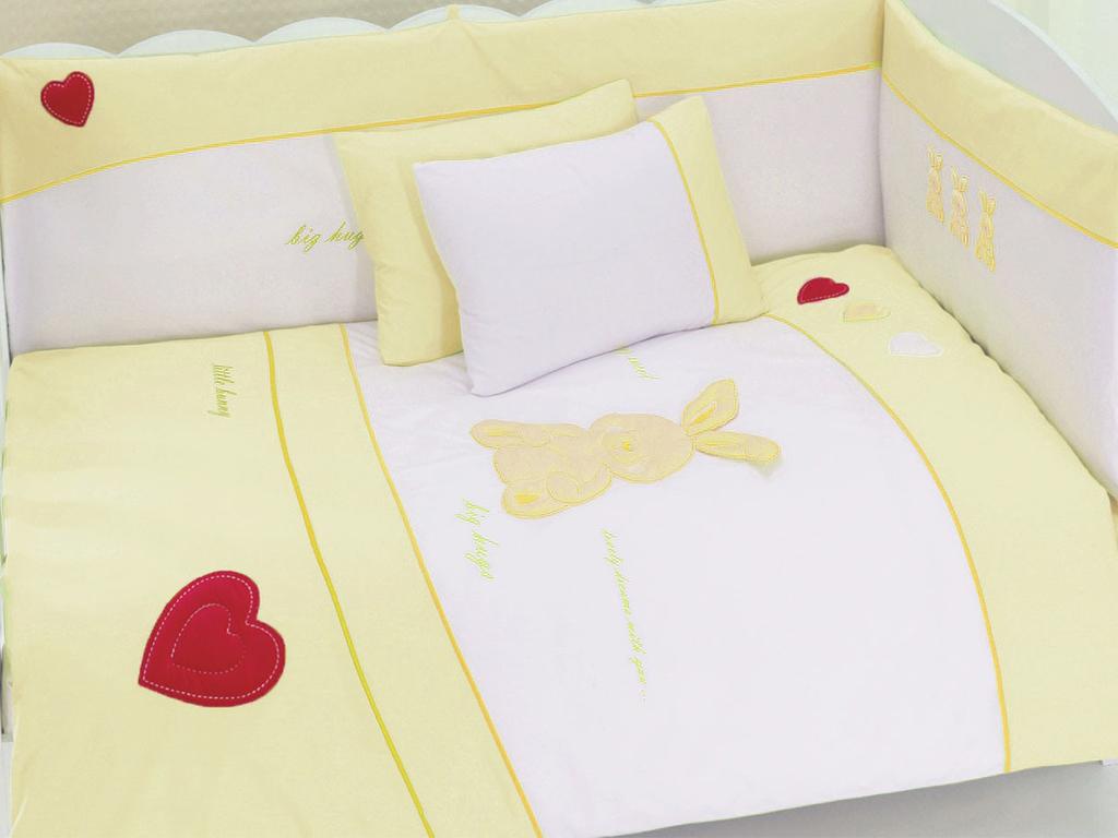 Купить Комплект постельного белья Kidboo MY LITTLE RABBIT цвет: серовато-бежевый, 6 предметов,