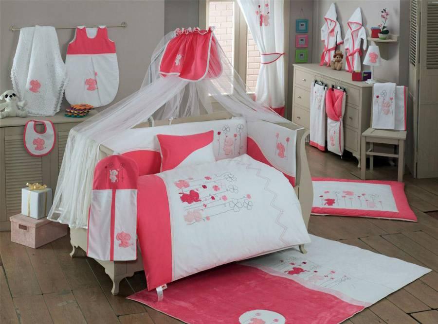 Купить Комплект постельного белья Kidboo Elephant цвет: розовый, 4 предмета, арт. KIDB,