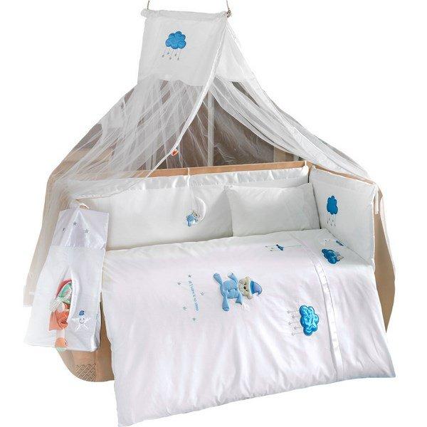 Купить Комплект постельного белья Kidboo Teddy Boo цвет: голубой, 4 предмета, арт. KIDB,