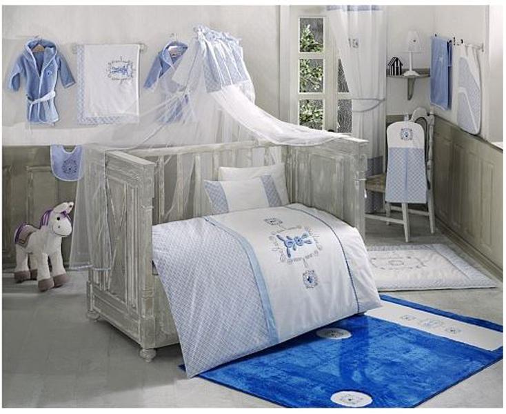 Купить Комплект постельного белья Kidboo Rabitto цвет: голубой, 4 предмета, арт. KIDB,