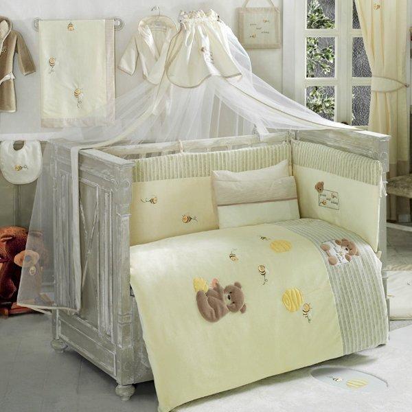 Купить Комплект постельного белья Kidboo Honey Bear цвет: soft, 4 предмета, арт. KIDB,