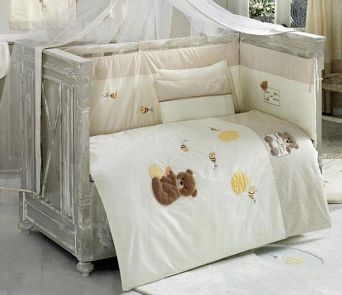 Купить Комплект постельного белья Kidboo Honey Bear цвет: linen, 4 предмета, арт. KIDB,