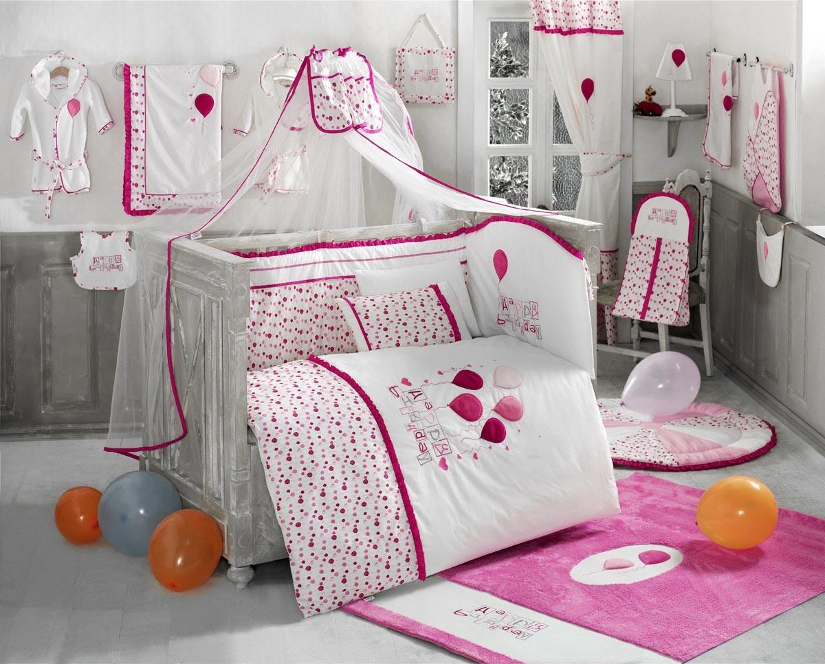 Купить Комплект постельного белья Kidboo Happy Birthday цвет: розовый, 4 предмета, арт. KIDB,