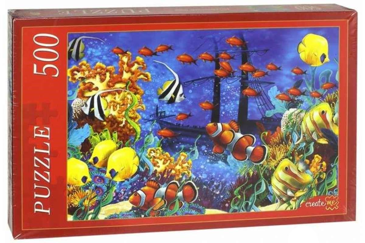 Пазлы Подводный мир, 500 элементов Рыжий кот