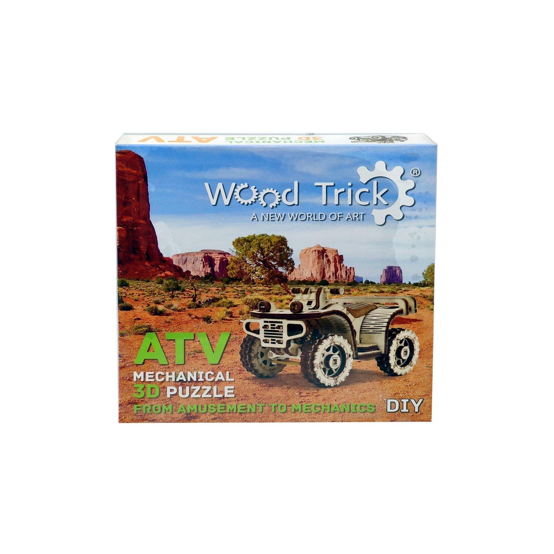 Купить Сборная деревянная модель Wood Trick Квадроцикл ATV, 57 деталей,