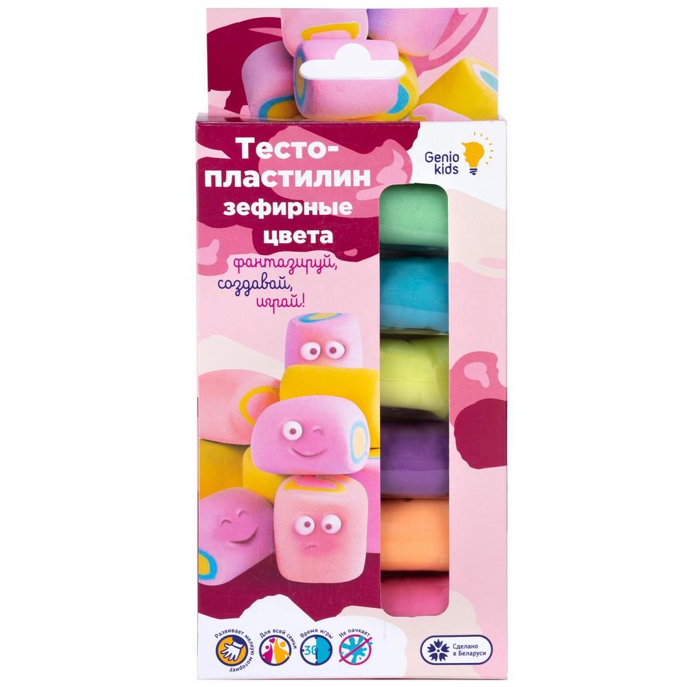 Купить Набор для детской лепки Тесто-пластилин. Зефирные цвета, 6 цветов, GENIO KIDS,