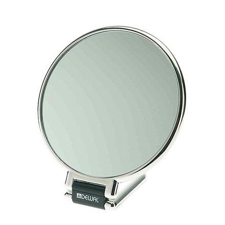 Зеркало Dewal настольное, серебристое, 14 см