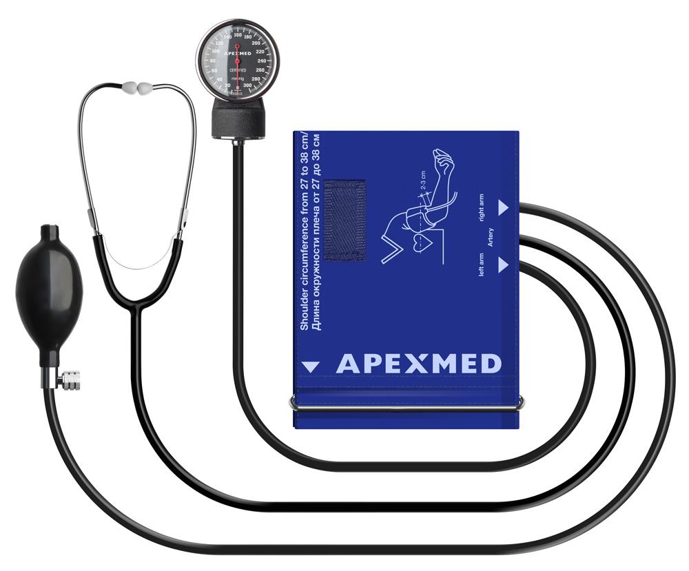 Купить Тонометр механический Apexmed АТ-12 27-38 см 1002-12-07, Apexmed International