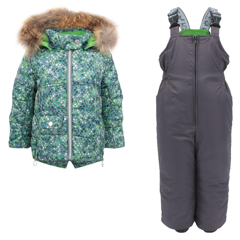 Комплект куртка/комбинезон Kvartet, цвет: зеленый р.98 495