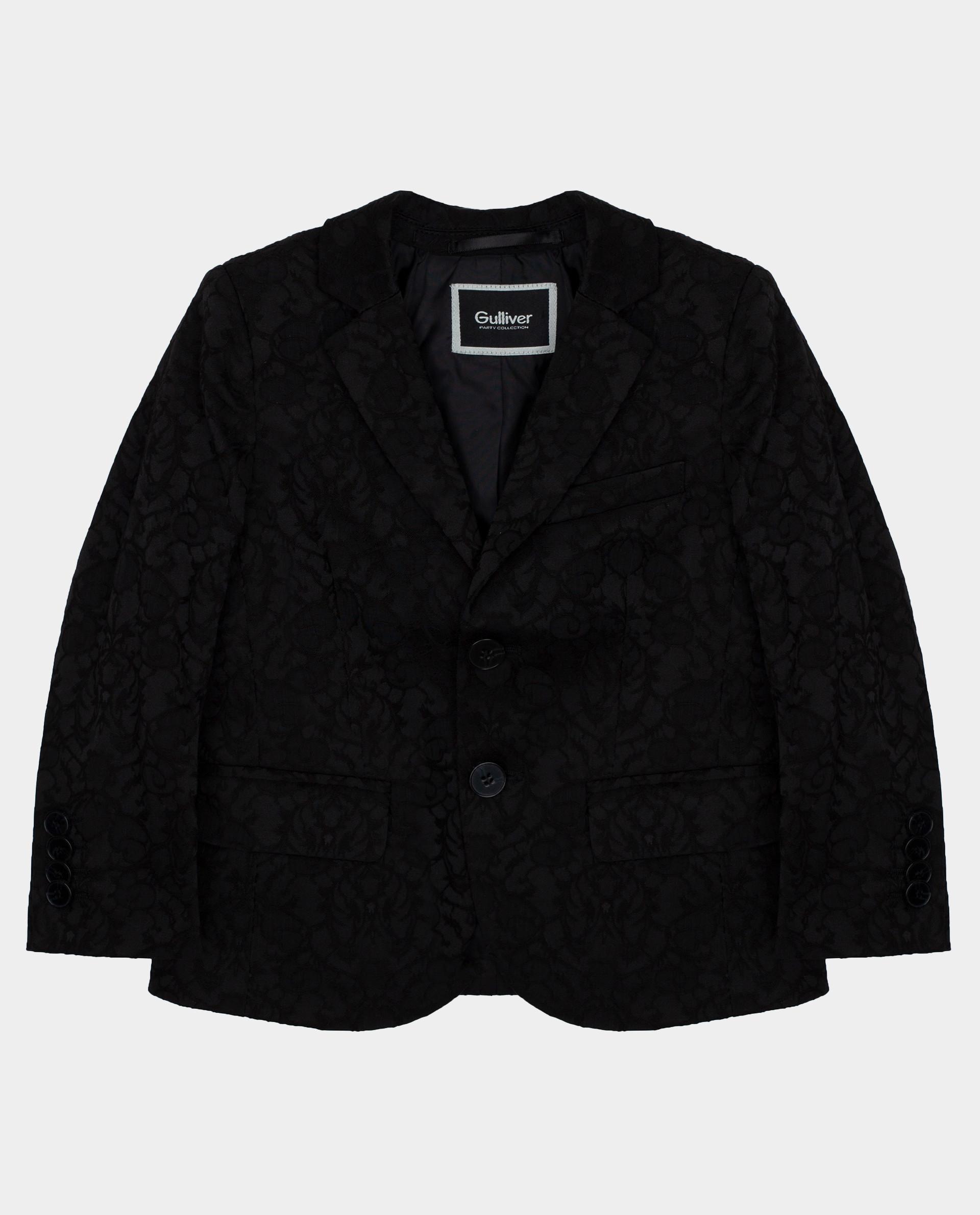 Черный пиджак Gulliver размер 104 220GPBMC4801
