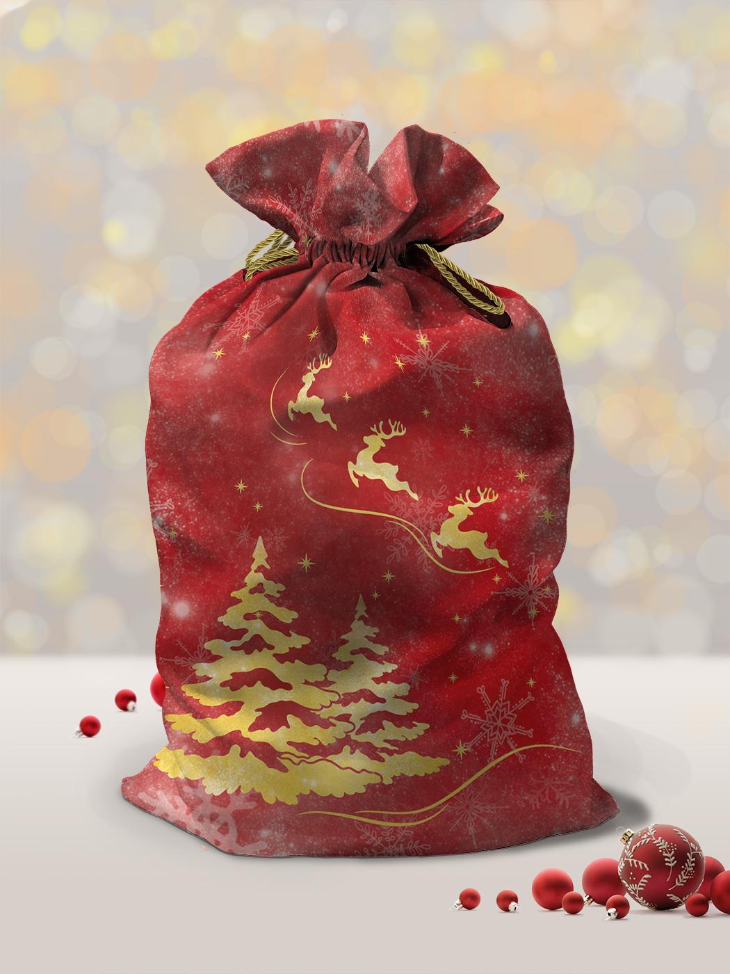 Мешок Деда Мороза 45х82 см Новогодний