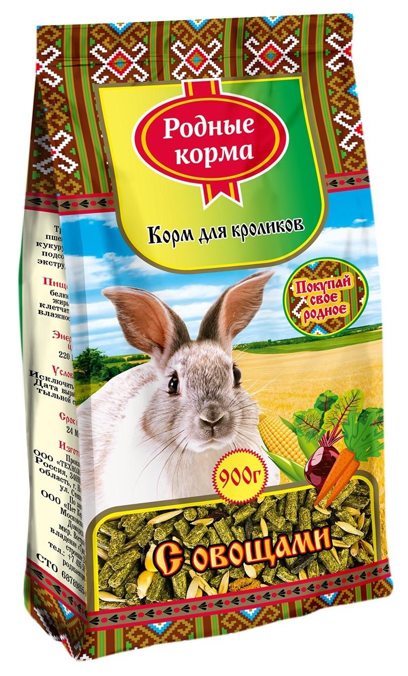 Корм для кролики Родные корма 0.9