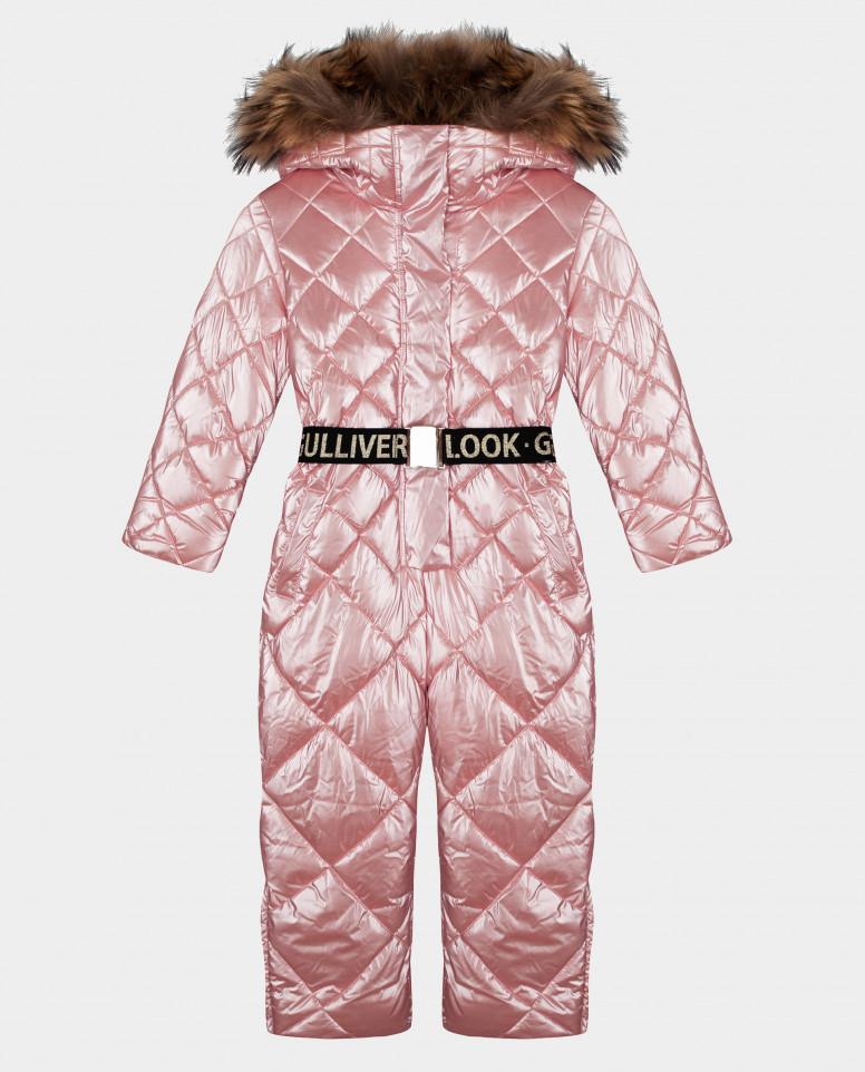 Розовый комбинезон зимний Gulliver 22001GMC6501 размер 98