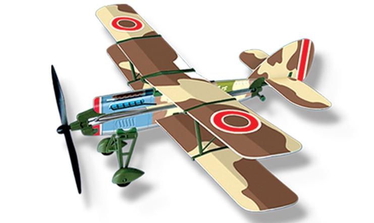 Самолет с резиномотором Lyonaeec History Plane F.2B Airplane, 453 мм