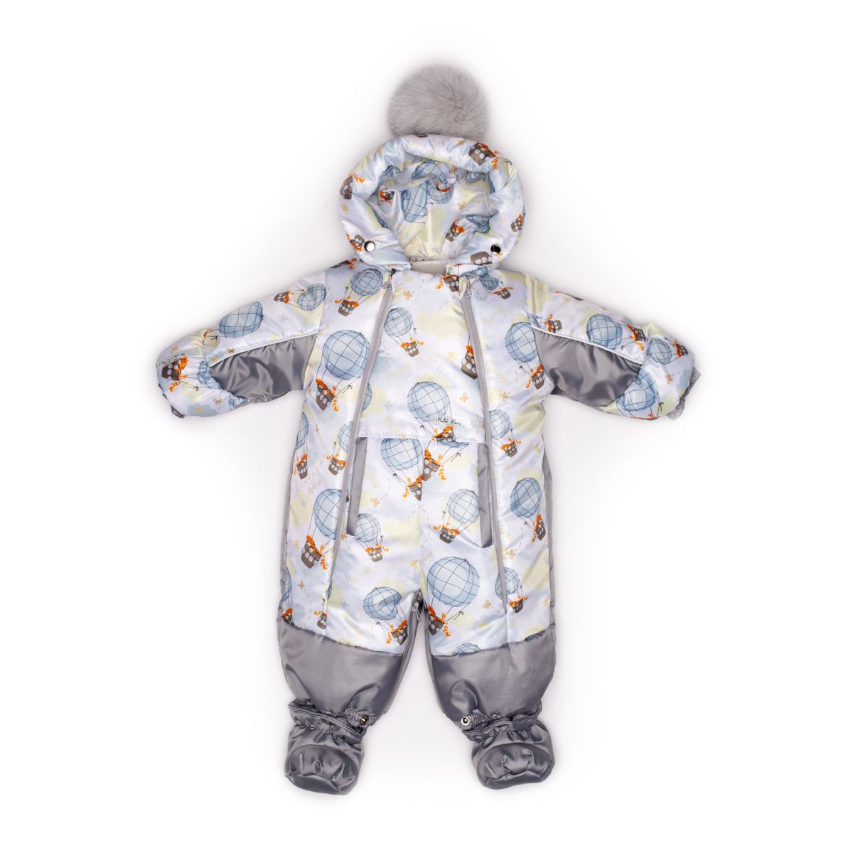 Купить 145шм/1, Комбинезон Malek Baby трансформер, цвет: серый/голубой р.68, Malek-Baby,
