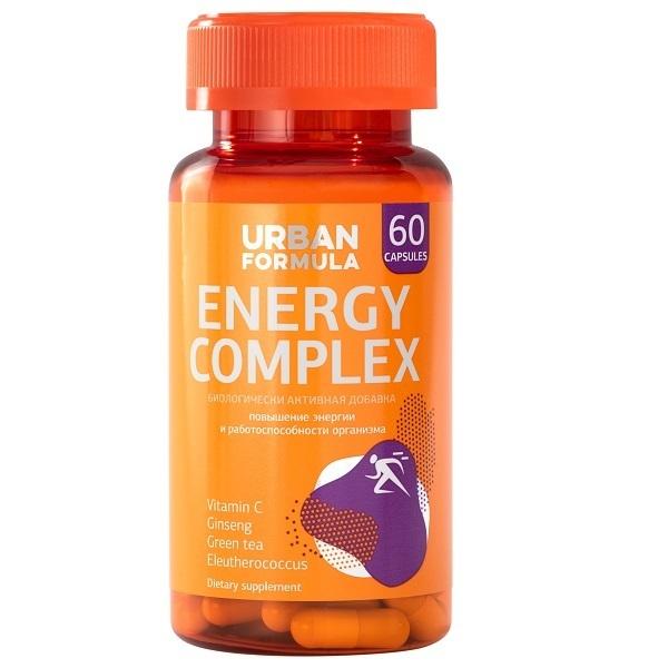 Купить Комплекс для энергии Urban Formula с женьшенем Energy Complex капсулы 60 шт.