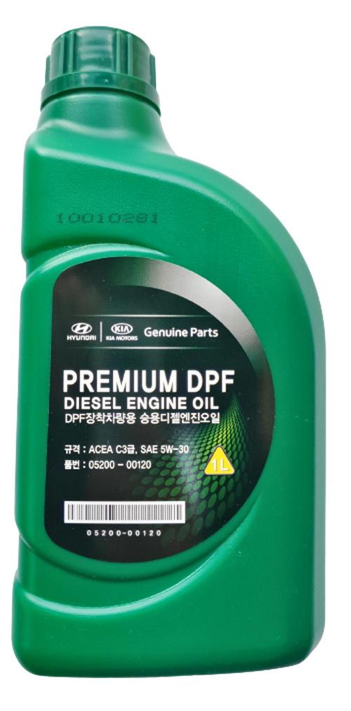Моторное масло Hyundai Premium DPF Diesel Engine Oil 5W-30 1л 0520000120