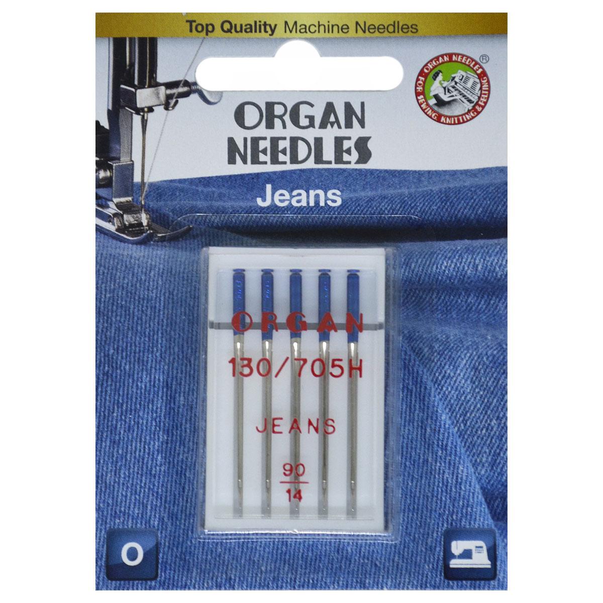Иглы Organ джинсовые 5/90 Blister