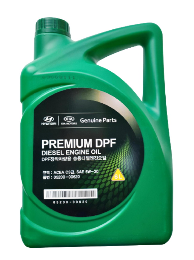 Моторное масло Hyundai Premium DPF Diesel Engine Oil 5W-30 6л 0520000620