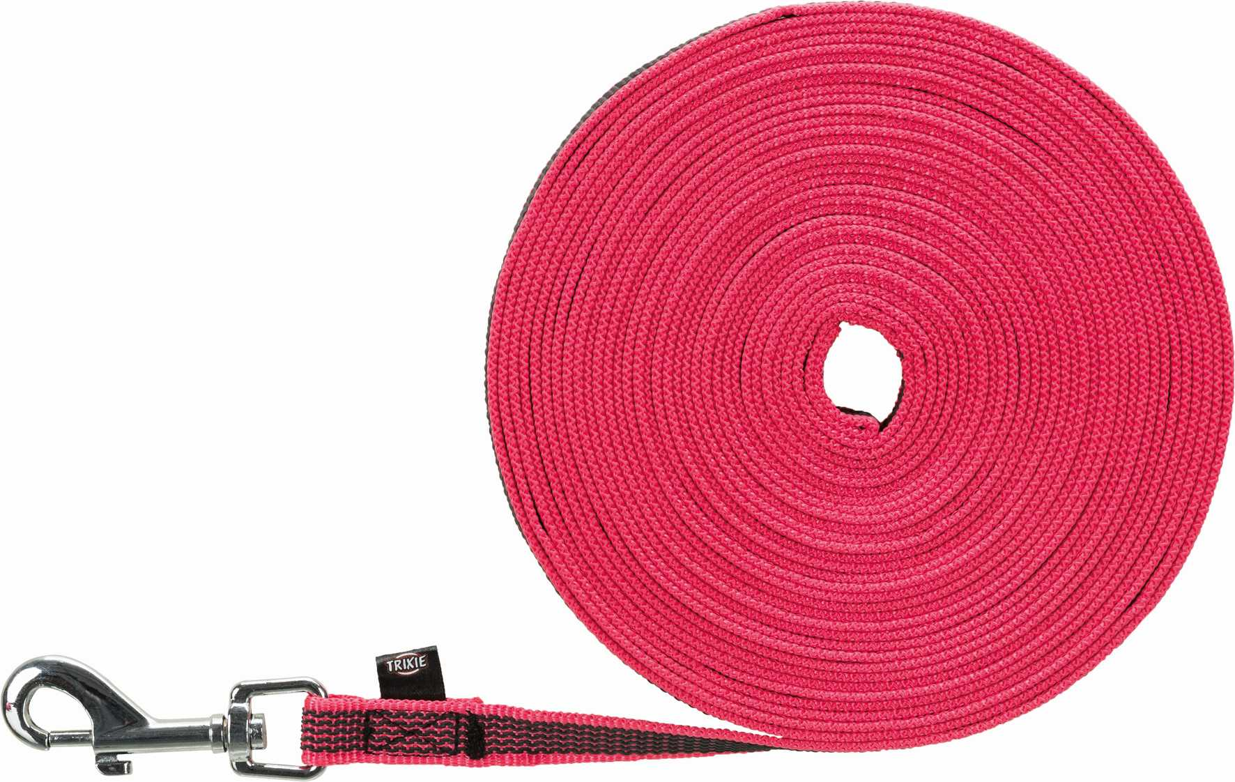 Трос для собак TRIXIE, нейлон, розовый, длина