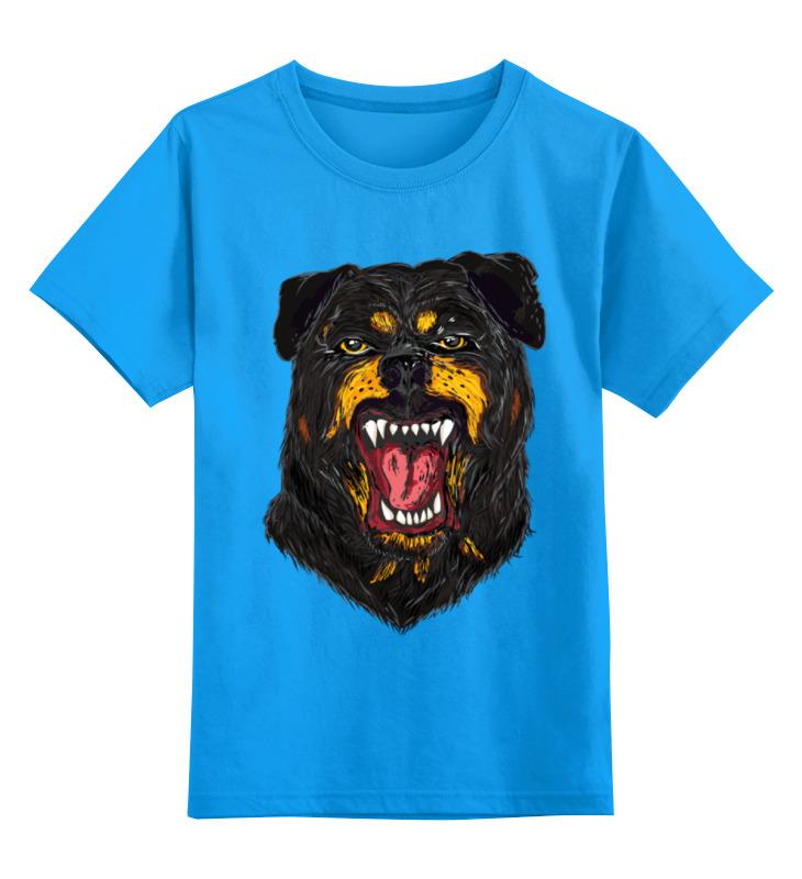 Купить 0000000702798, Детская футболка классическая Printio Rottweiler, р. 164,