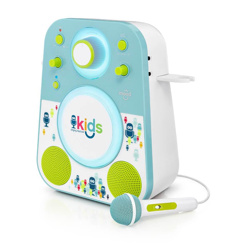 Купить Kids SMK250, Детская караоке система Singing Machine Kids с микрофоном и LED подсветкой, голубой,
