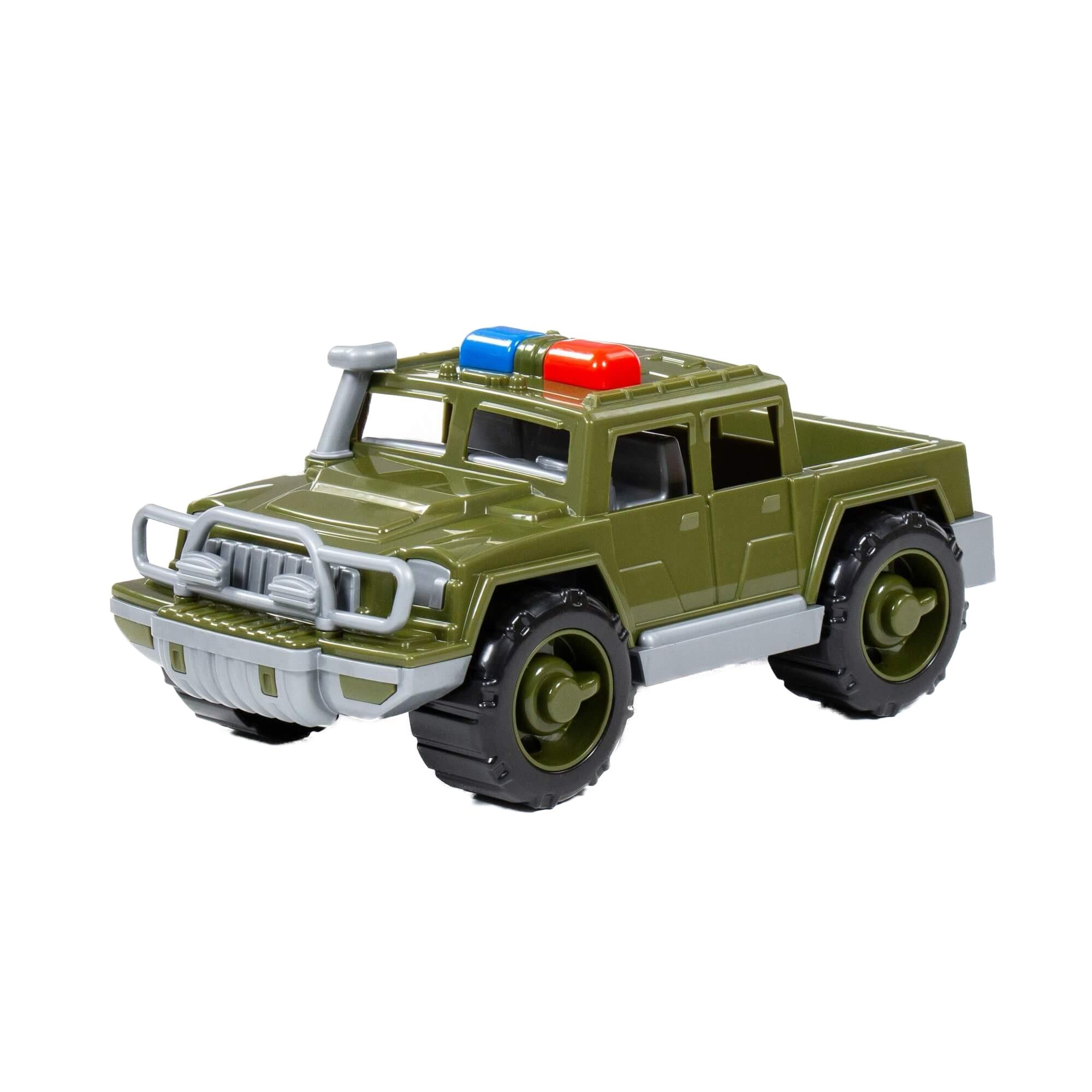 Игрушка Полесье Автомобиль-пикап, военный патрульный Защитник