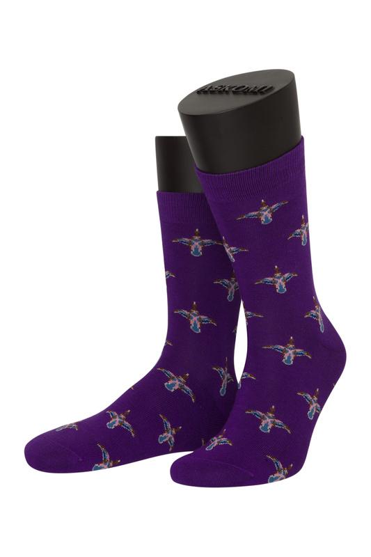 Носки женские ASKOMI AF-C7010 фиолетовые 27