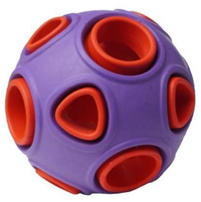 Развивающая игрушка для собак HOMEPET мяч, красный,