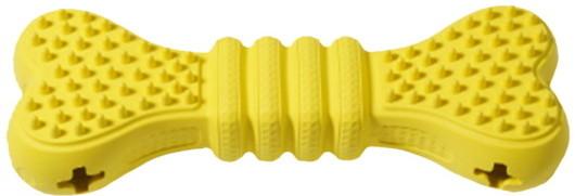 Развивающая игрушка для собак HOMEPET косточка, желтый,