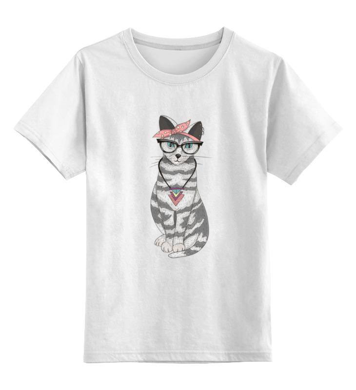 Купить 0000000705382, Детская футболка классическая Printio Мяу мяу мяу, р. 104,