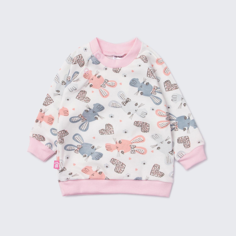 Джемпер детский КотМарКот цв. белый; розовый р.86