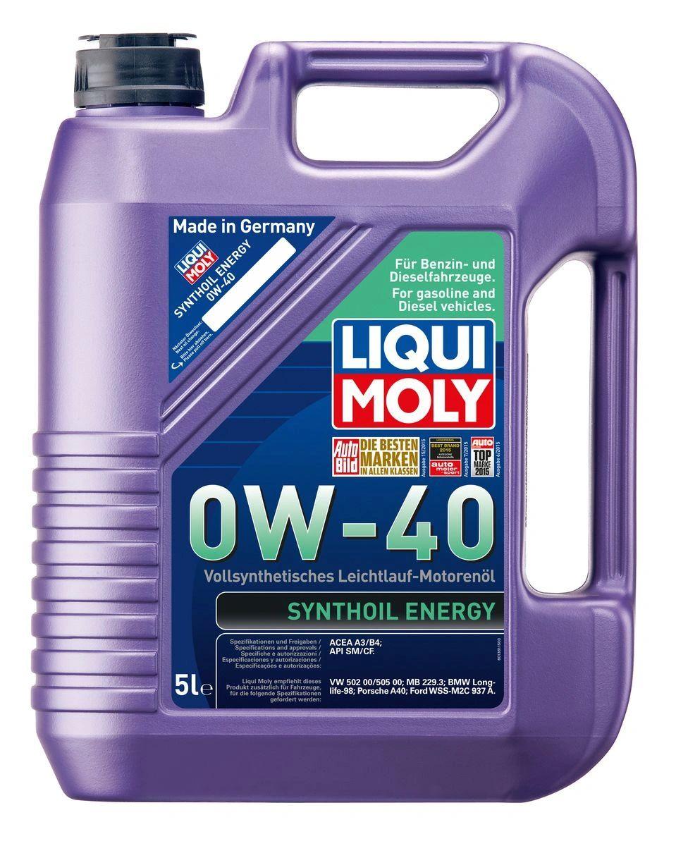 Моторное масло LIQUI MOLY Leichtlauf Energy 0W-40 (4L) 39035