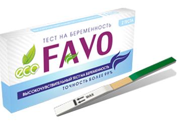 Высокочувствительный тест на беременность FAVO 2 шт.
