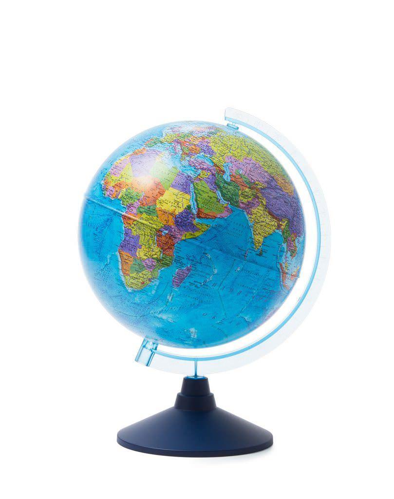Глобус Globen политико-физический с подсветкой от батареек d250,Ве012500296