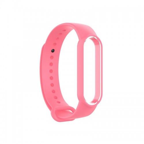 Силиконовый браслет Xiaomi Mi Band 5 Розовый