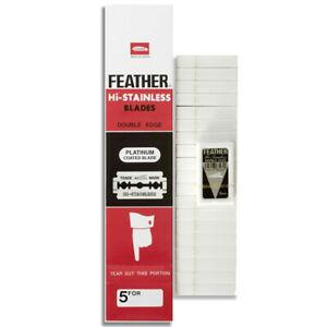 Feather Platinum - Лезвия для бритья 20 упаковок по 5 штук.