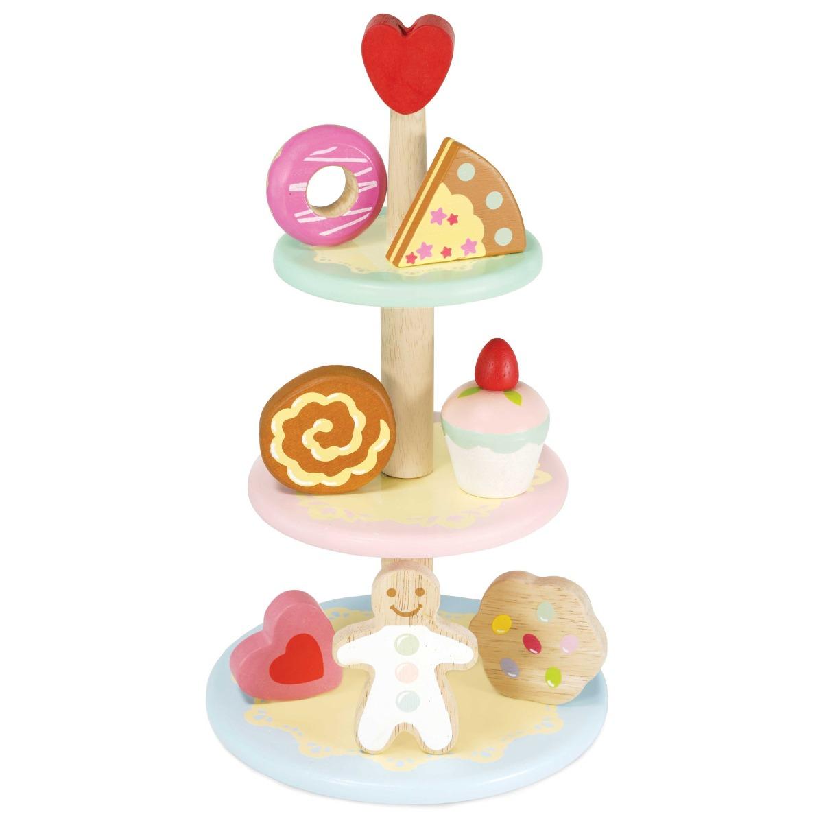 Купить Игрушечная еда Le Toy Van Этажерка с пирожными,