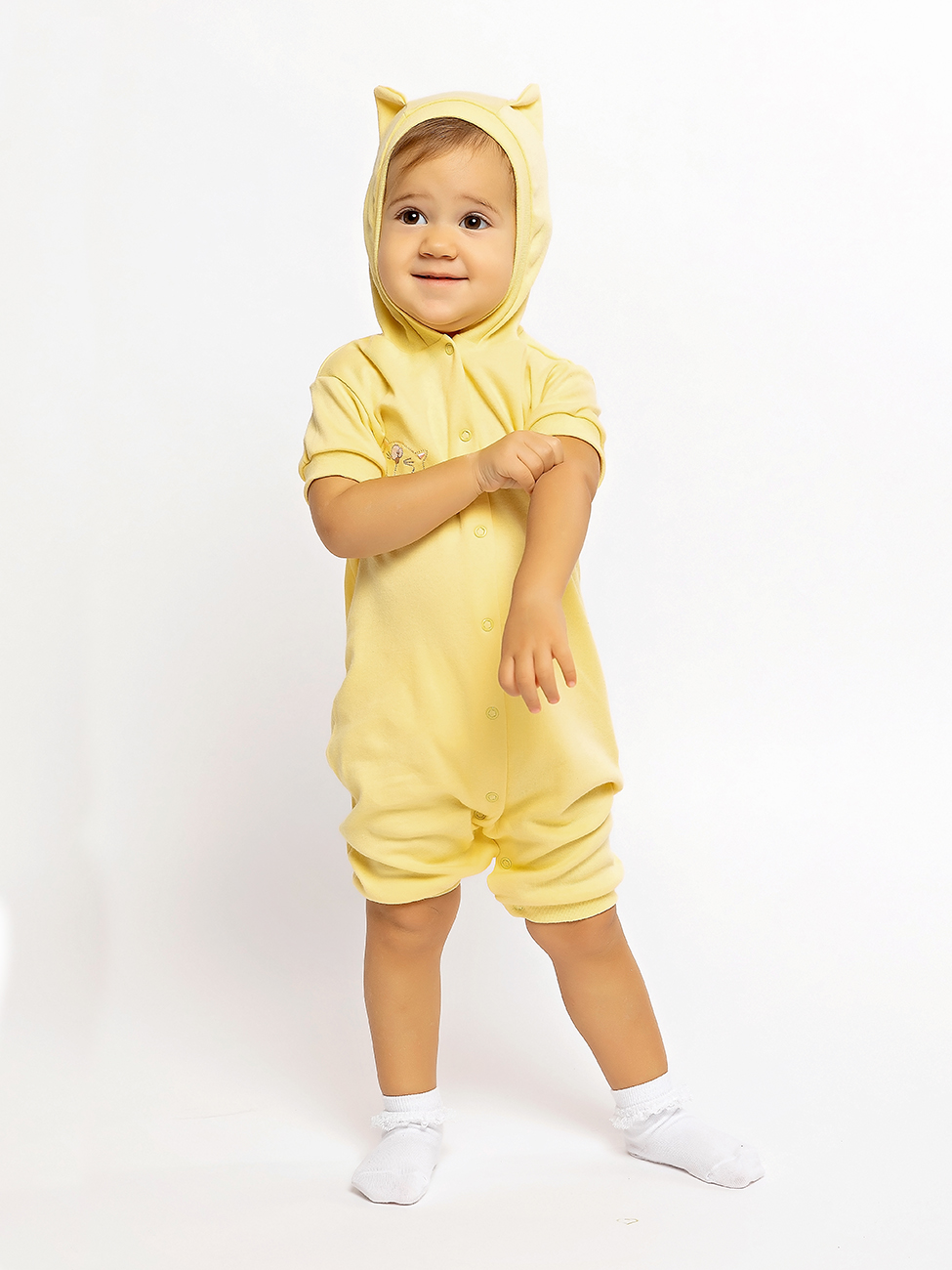 Купить 1113и, Песочник Желтый кот желтый, р. 74,