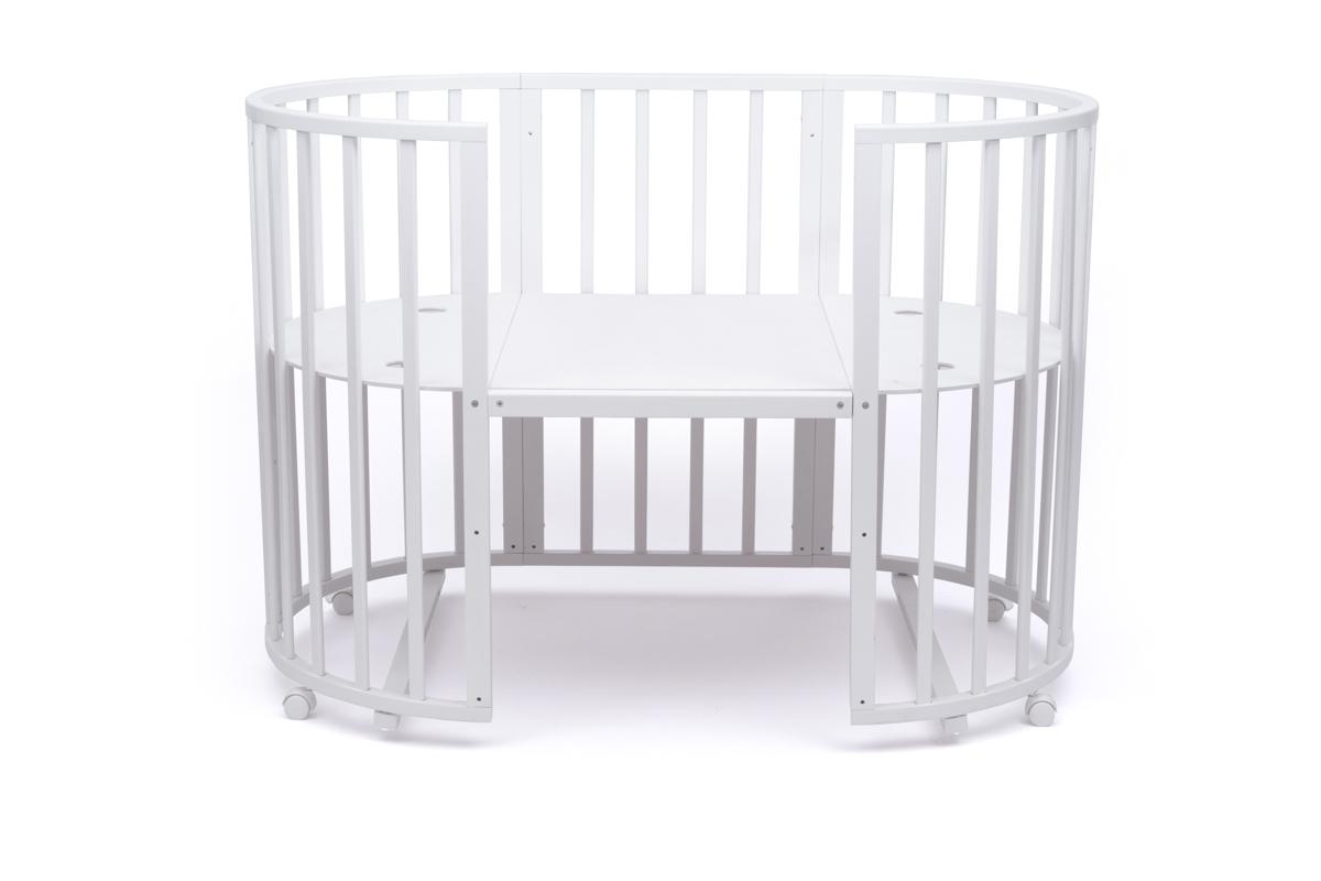 Купить Овальная кровать-трансформер Tomix MALTA 8 в 1 белая,