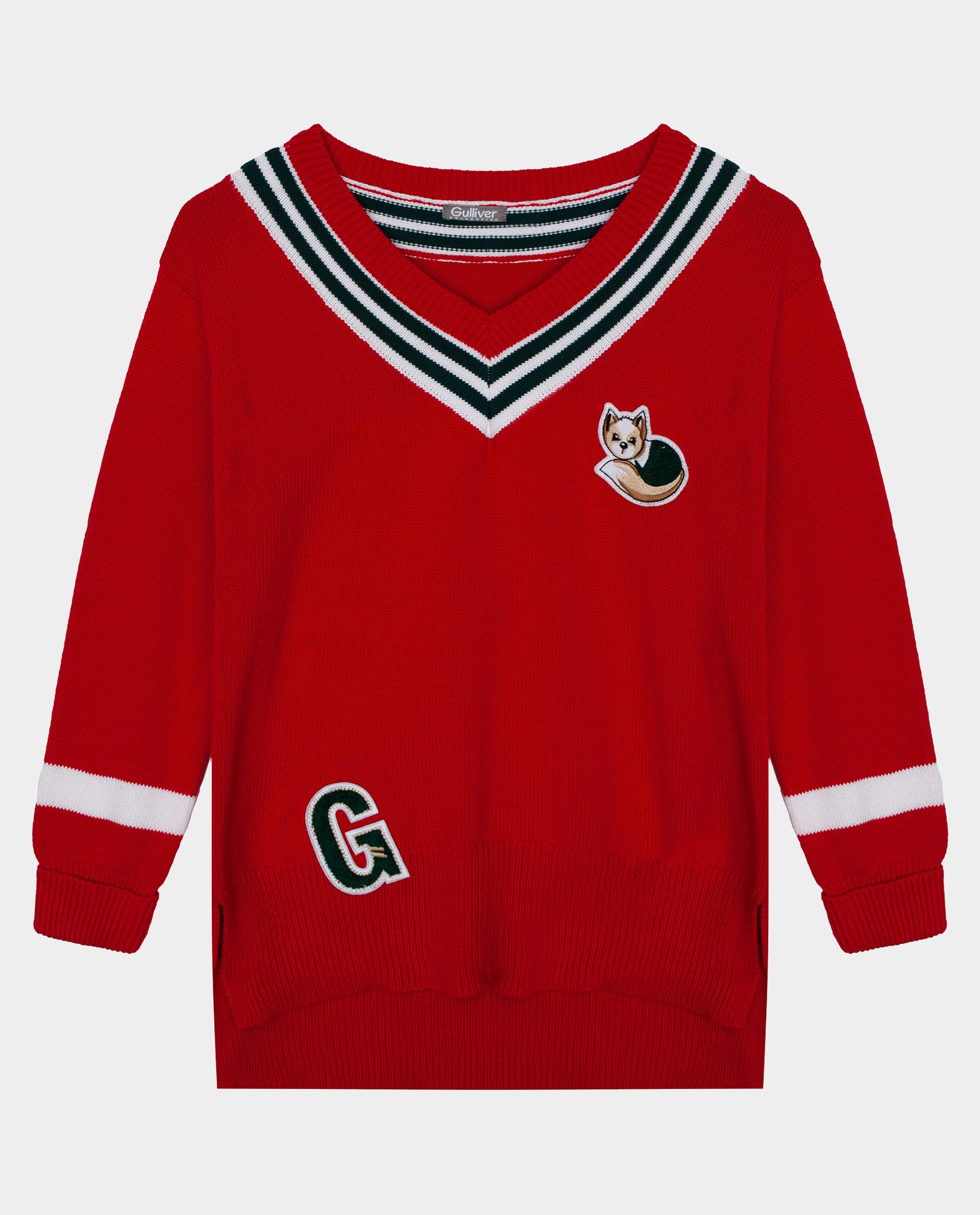 Красный джемпер Gulliver размер 110*56*51 22002GMC3101