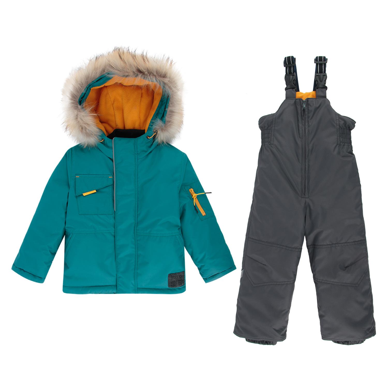 Комплект куртка/полукомбинезон Kvartet, цвет: зеленый р.104 561-М