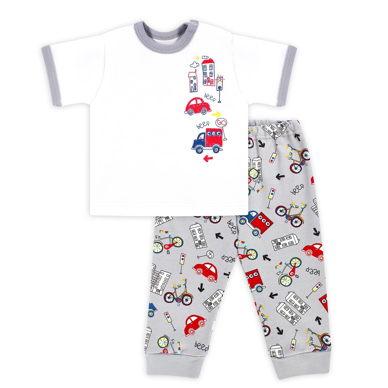 Купить 673332/Kbb, Комплект футболка/брюки Веселый малыш, цвет: мультиколор р.74,