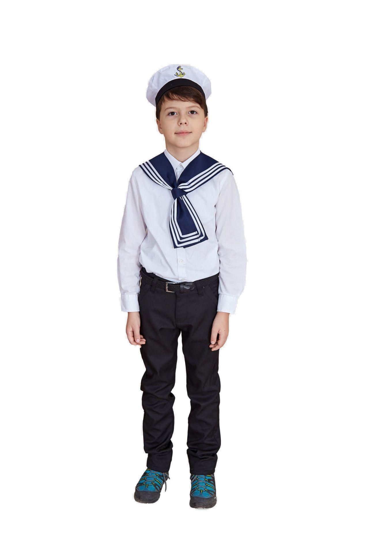Купить ИТК-29, Карнавальный костюм Учитель Моряк, цв. синий р.134,