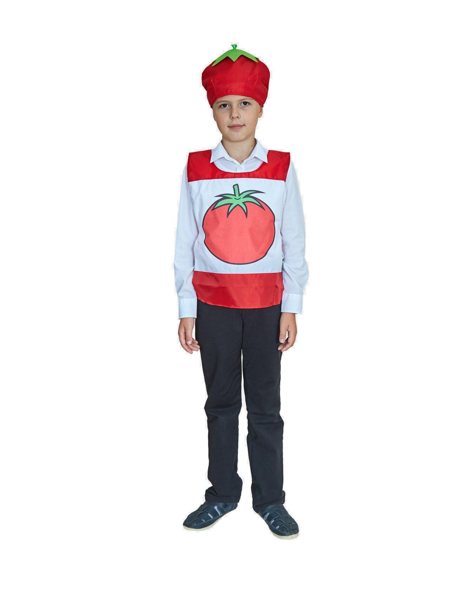 Карнавальный костюм Учитель Овощ, цв. красный р.134