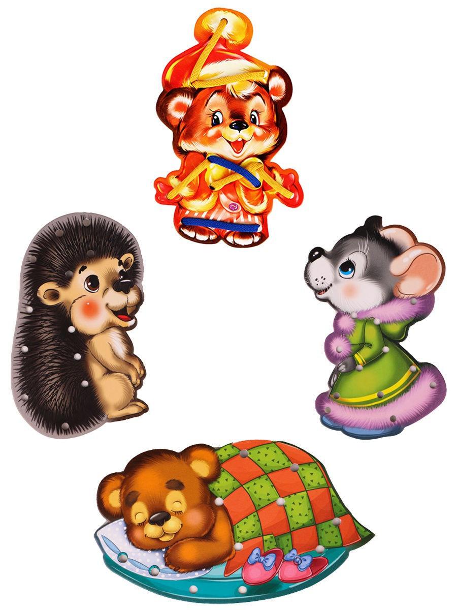 Купить Игра в пакете Шнуровка для малышей. Любимые животные , Рыжий кот,